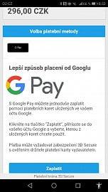Mobilní aplikace Můj vlak podporuje Google Pay (01/2021)