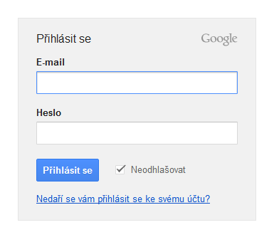 google-prihlaseni