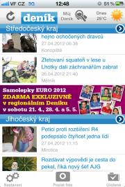 Mobilní zpravodajské aplikace