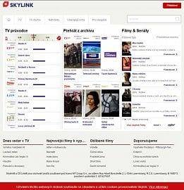Webové rozhraní služby Skylink Live TV prošlo, po změně visuální podoby značky, redesignem. V současné době se pracuje na zavedení nových funkcí.