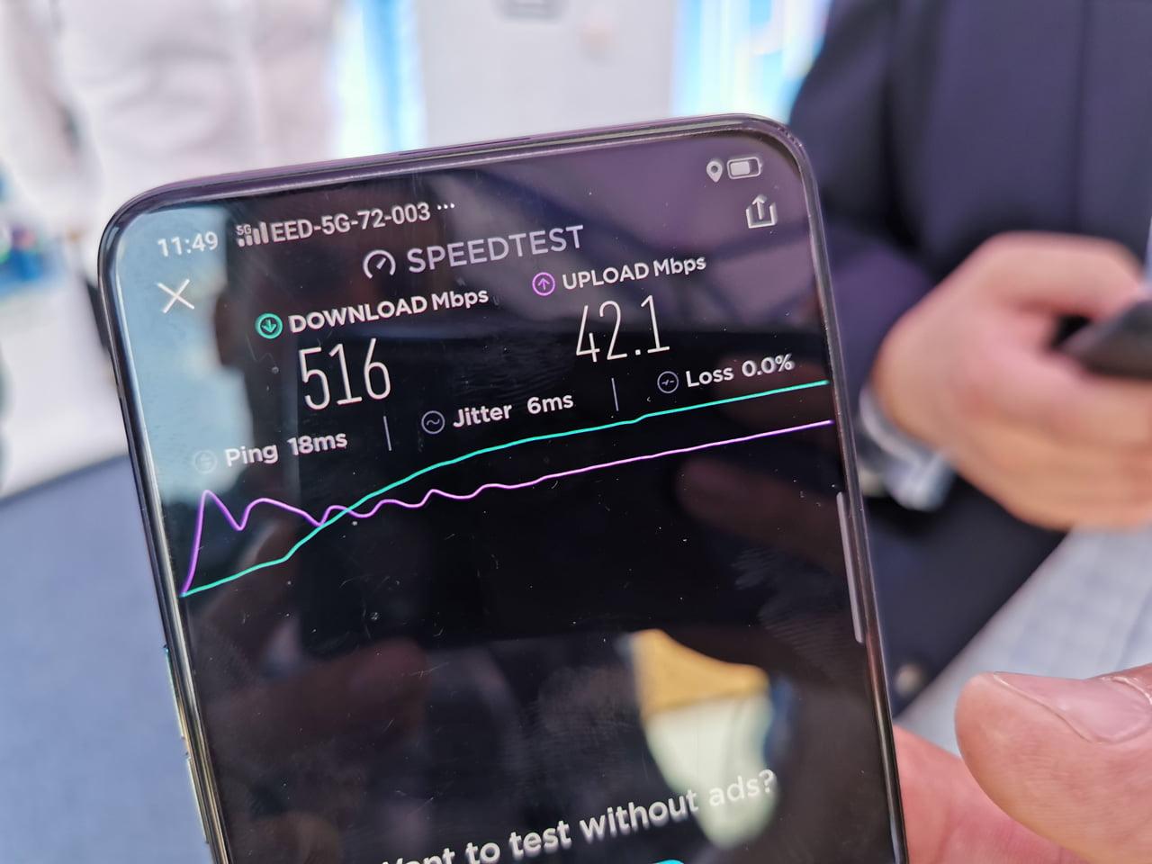 Testovací 5G síť O2 v Kolíně na frekvenci 3,5 GHz