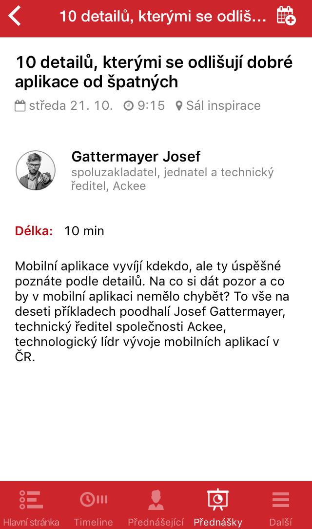 Mobilní aplikace #CIF2015