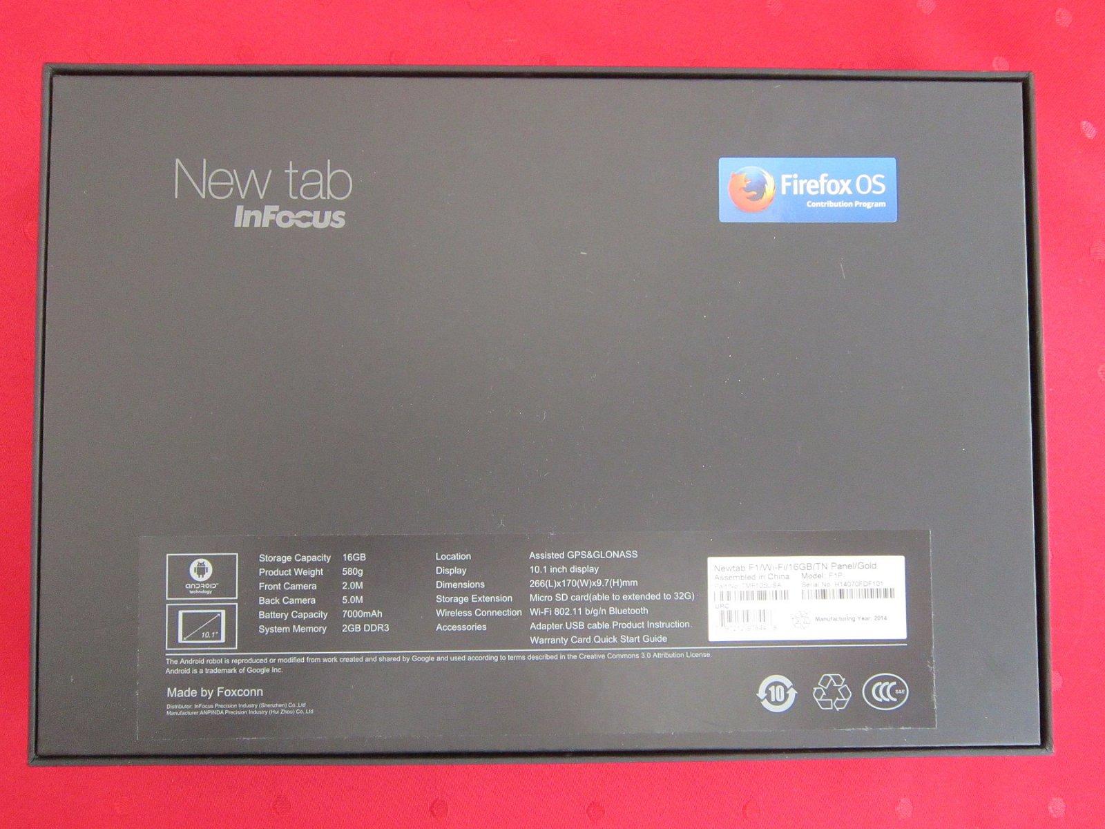 Rozbalení tabletu s Firefox OS