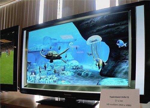 České Radiokomunikace na tiskové konferenci předvedly také praktickou ukázku standardu DVB-T2.