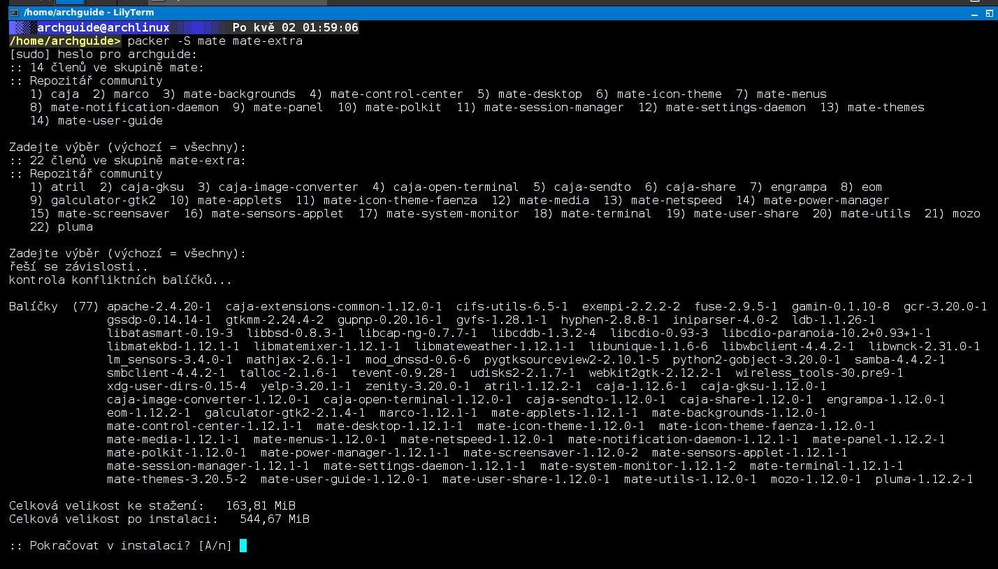 Arch: další DE a WM, spotřeba systémových prostředků