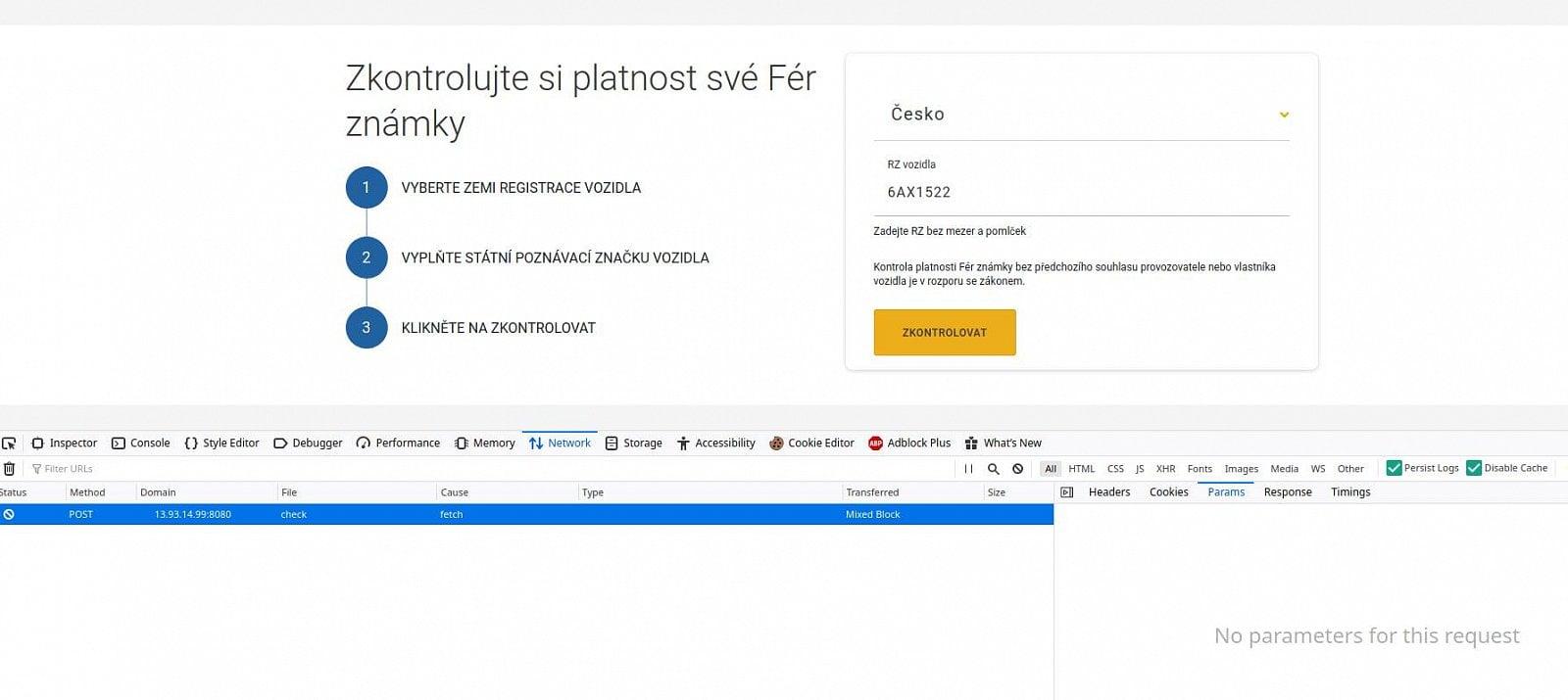 Bezpečnostní problémy ferznamka.cz