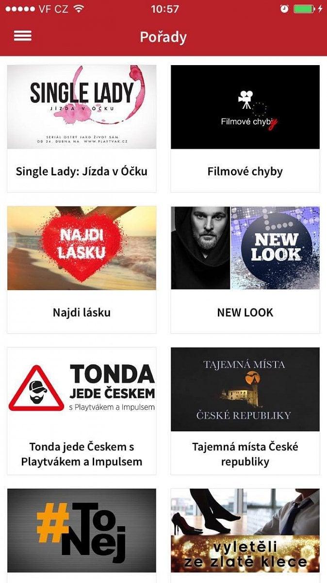 Mobilní aplikace Playtvak.cz