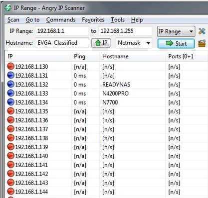 Aplikace Angry IP Scanner dokáže prozkoumat síť a vyhledat IP adresy, které jsou obsazeny síťovými zařízeními.