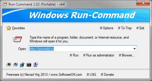 Run-Command je skvělou náhradou systémového dialogu Spustit