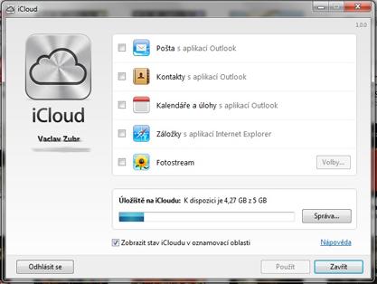Pomocí iCloud Control Panel for Windows můžete synchronizovat svůj iCloud také na Windows