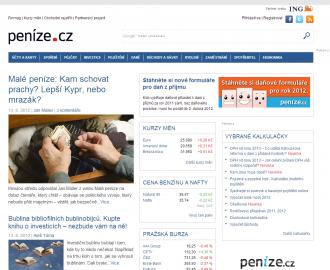 Nové Peníze.cz - hlavní stránka