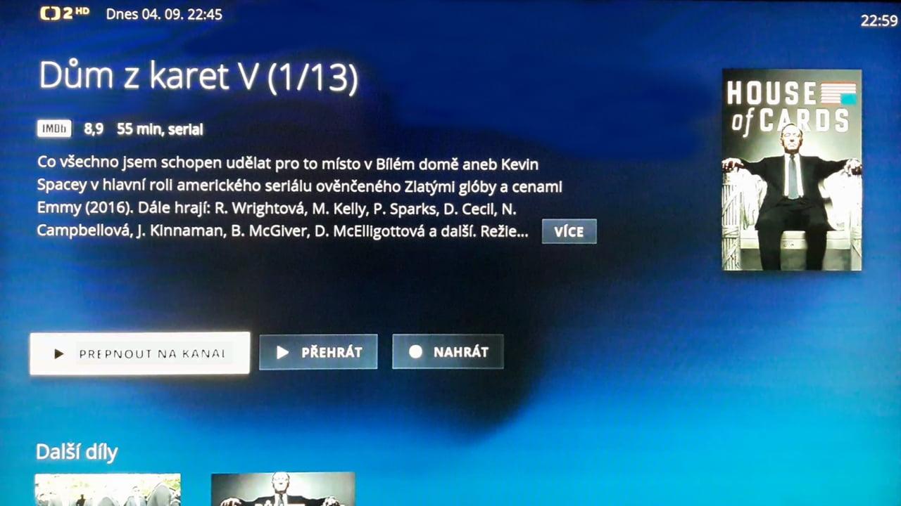O2 TV - informace o pořadu
