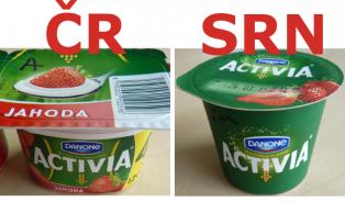 Velké srovnání potravin vČR a SRN: Složení je ve třetině případůjiné