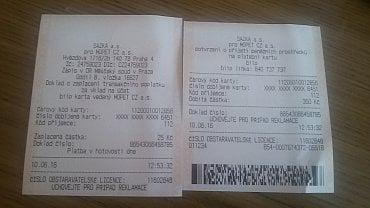 Dobití biip karty přes SAZKA terminál