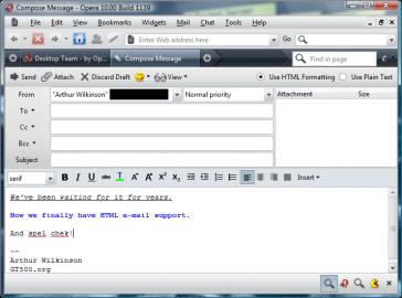 <p>Psaní nového e-mailu v prostředí integrovaného e-mailového klienta.</p>