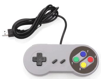 Laciná napodobenina ovladače pro SNES z AliExpressu
