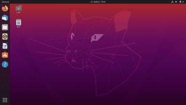Desktop po prvním startu.
