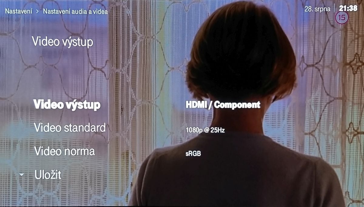 Arris VIP4302 pro T-Mobile TV - Domovské menu a nastavení