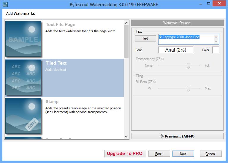 Bytescout Watermarking přidá vodoznak do fotografií