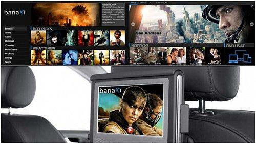Aplikace Banaxi videopůjčovna na platformě OS.CAR
