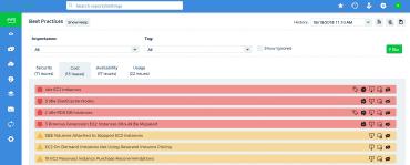 CloudCheckr nás neustále zásobuje doporučeními