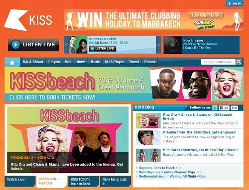 Hudební kanály nabízejí jako doplněk ke svému vysílání i webové portály. V nejednom případě je značka stanice použita také pro tištěný magazín. Kiss je zároveň i rozhlasovou stanicí.