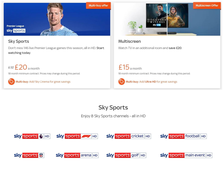 Tarifní a programová nabídka Sky Q pro britské ostrovy