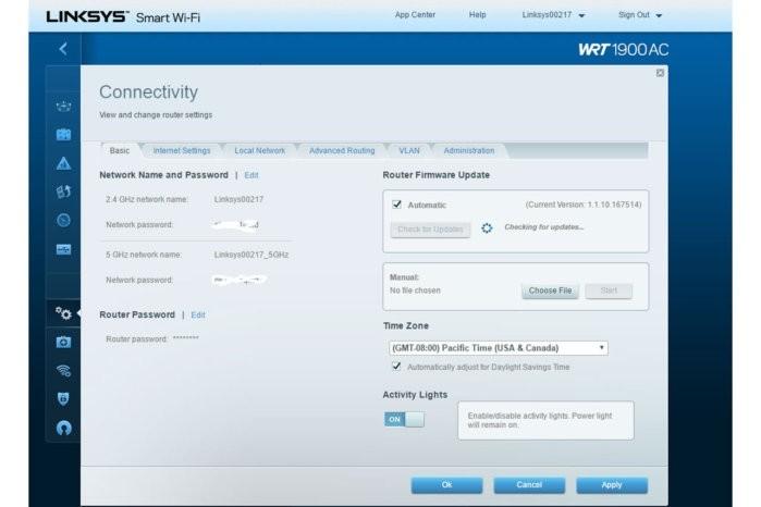 Při konfiguraci směrovače je třeba nejprve změnit heslo správce systému a aktualizovat firmware na nejnovější verzi