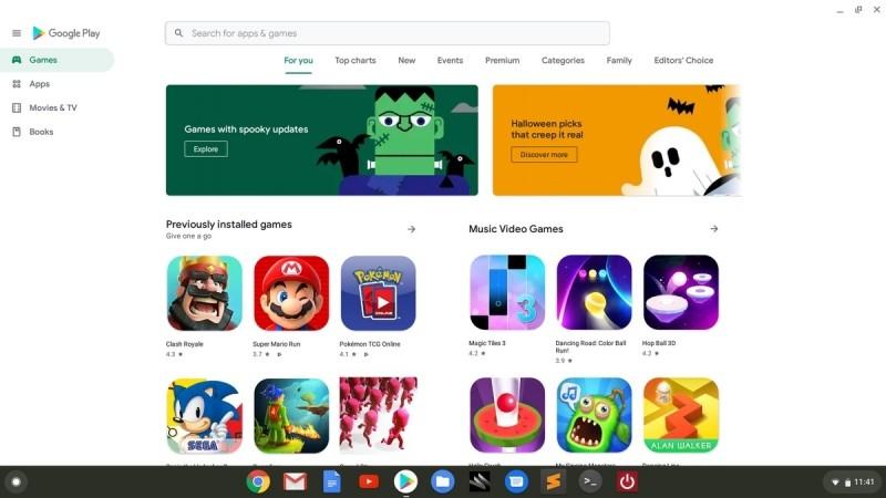 Google Play v Chrome OS 76.
