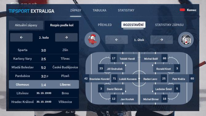 [aktualita] Česká televize spustila novou HbbTV aplikaci k extralize ledního hokeje