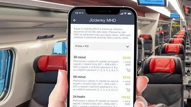 [aktualita] Aplikace Můj vlak od Českých drah umožňuje nákup MHD jízdenek v 16 městech
