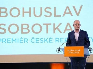 Bohuslav Sobotka před volbami