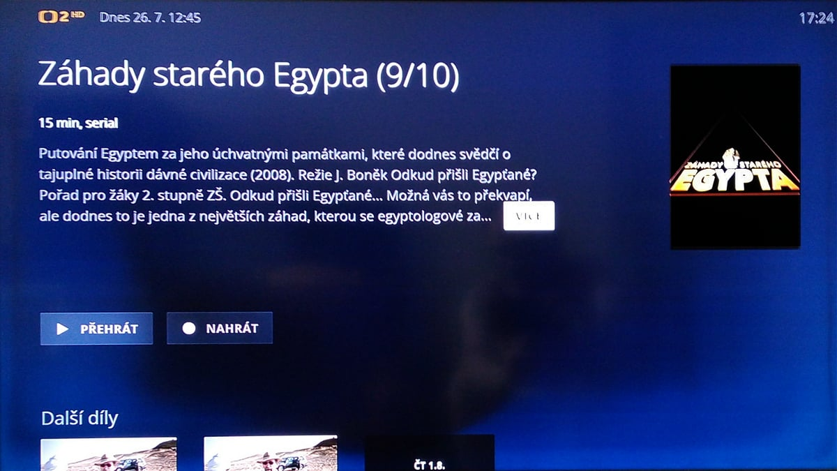 O2TV, vizitky pořadů na různých stanicích