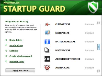 Pomocí Startup Guard zrychlíte spouštění počítače