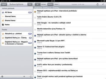 Feeddler RSS Reader umožňuje automatické stahování celého obsahu článků