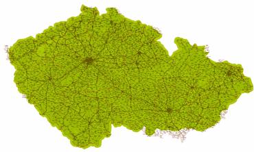 Pokrytí digitálního multiplexu Českého rozhlasu, jak ho znázorňuje mapa v kampani Doba DABová