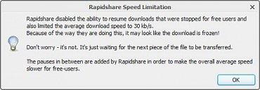 RapidShare slow down