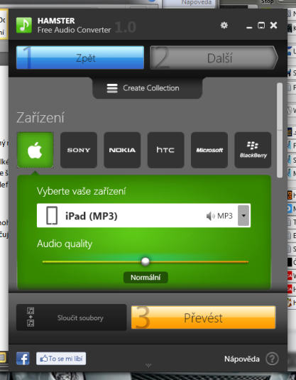 Hamster Free Audio Converter převádí hudbu pro váš iPhone