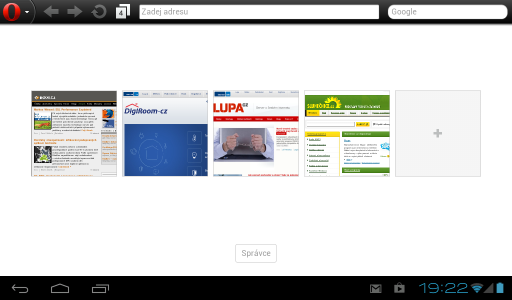 Opera Mobile (Classic) pro Android