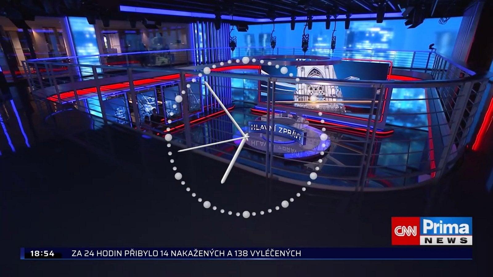 První den vysílání CNN Prima News