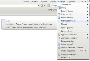 <p>Ukázka režimů úspory CPU</p>