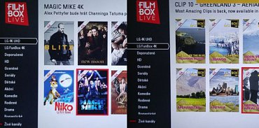 Filmotéka v Ultra HD nabízí skoro stovku pořadů studiově převedených nebo rovnou natáčených ve 4K. Jde především o filmy a dokumenty z cest po všech koutech planety.