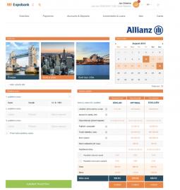 Cestovní pojištění Allianz pojišťovny poskytované na platformě NEO účtu.