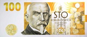 pamětní 100 Kč bankovka Budování československé měny.