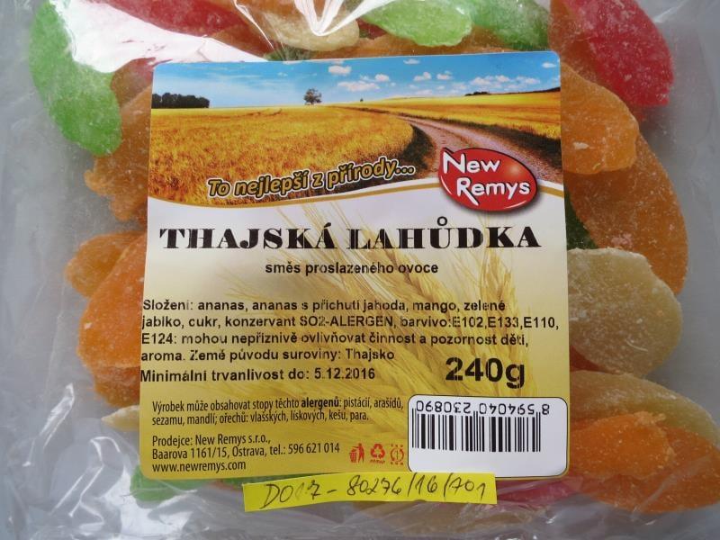 Kandované ovoce obsahovalo neuvedené přídatné látky
