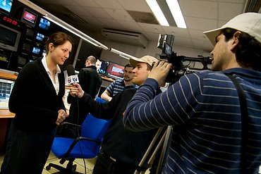 Marie Janíková-Fianová ještě v době, kdy byla mluvčí Českých Radiokomunikací