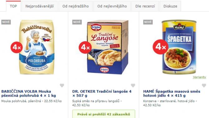 [aktualita] Mouka, rýže, konzervy. Alza.cz začala prodávat trvanlivé potraviny