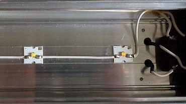 Ledeos Linear – detail LED diod a tištěných spojů.