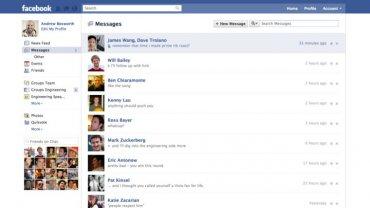 Rozhraní Facebook Messages, kde se všechna komunikace slévá v jedno.