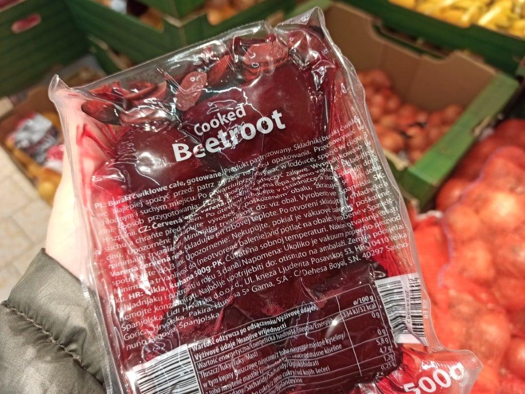 Předpřipravená zelenina v obchodech